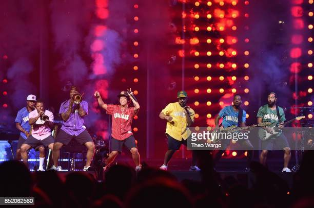 Bruno Mars performs onstage during Bruno Mars 24K Magic World Tour at Madison Square Garden on September 22 2017 in New York City