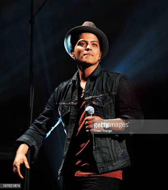 Bruno Mars performs onstage during Z100's Jingle Ball 2010 presented by HM at Madison Square Garden on December 10 2010 in New York City