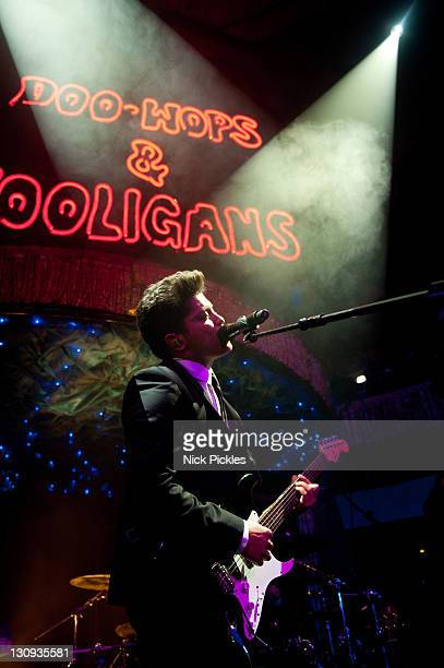 Bruno Mars promotes the release of his debut album 'DooWops Hooligans' at Cafe de Paris on January 24 2011 in London England