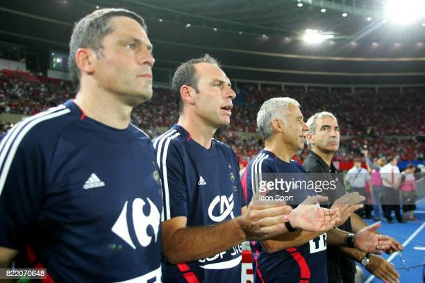 Bruno MARTINI / Alain BOGHOSSIAN / Pierre MANKOWSKI / Raymond DOMENECH Autriche / France Qualifications Coupe du Monde 2010 Vienne