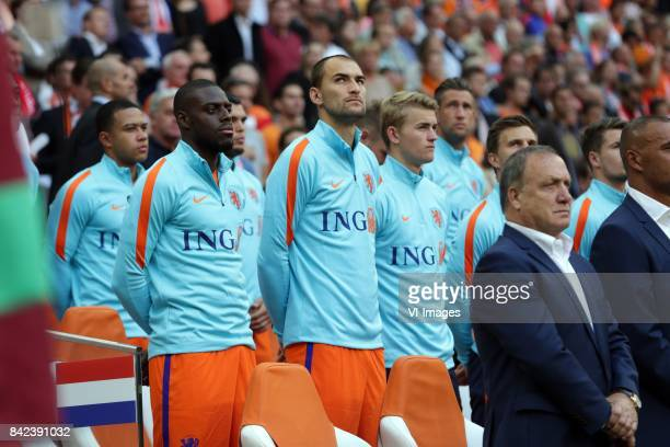 Bruno Martins Indi of Holland Bas Dost of HollandMatthijs de Ligt of Holland coach Dick Advocaat of Holland during the FIFA World Cup 2018 qualifying...