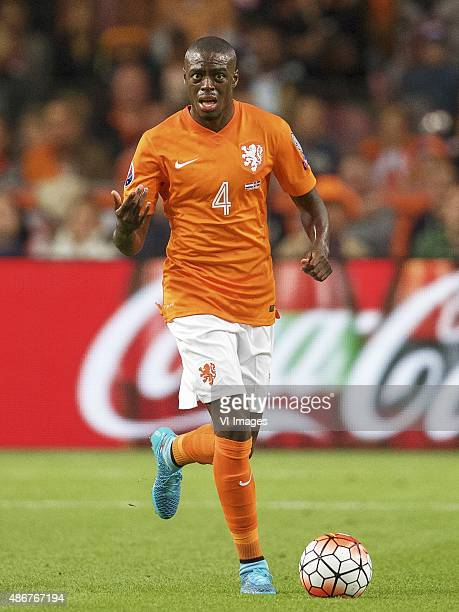 Bruno Martins Indi of Holland during the UEFA Euro 2016 qualifying match between Netherlands and Iceland on September 3 2015 at the Amsterdam Arena...