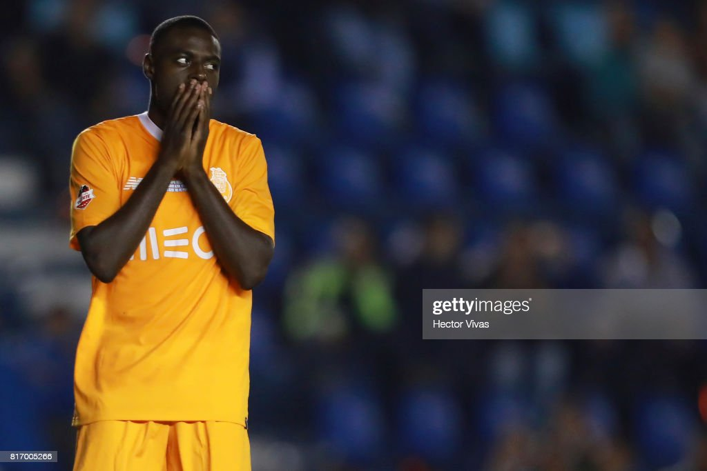 Bruno Martins Indi of Porto reacts after missing a penalty kick during a match between Cruz Azul and Porto as part of Super Copa Tecate at Azul Stadium on July 17, 2017 in Mexico City, Mexico.