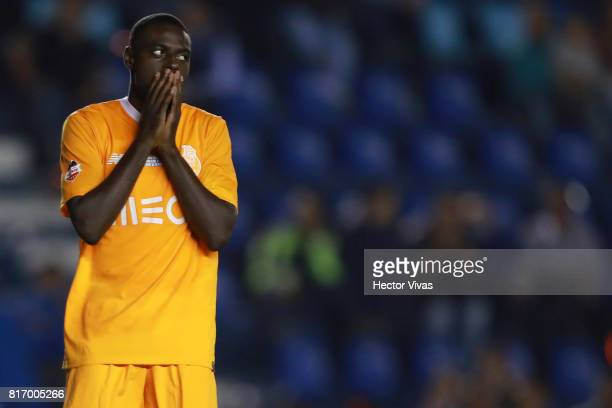 Bruno Martins Indi of Porto reacts after missing a penalty kick during a match between Cruz Azul and Porto as part of Super Copa Tecate at Azul...
