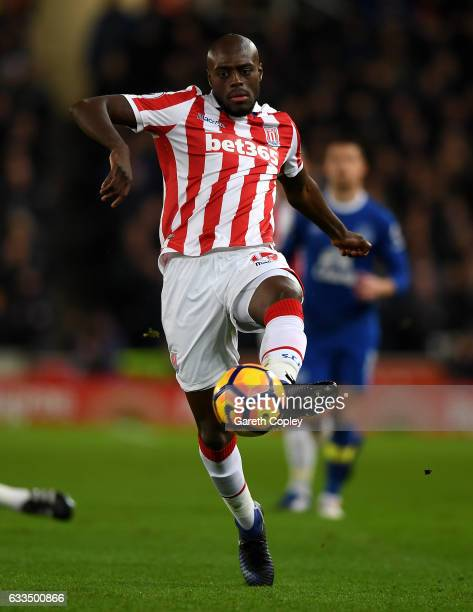 Bruno Martins Indi of Stoke City during the Premier League match between Stoke City and Everton at Bet365 Stadium on February 1 2017 in Stoke on...