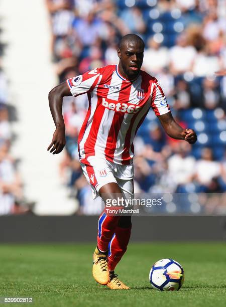 Bruno Martins Indi of Stoke City during the Premier League match between West Bromwich Albion and Stoke City at The Hawthorns on August 27 2017 in...