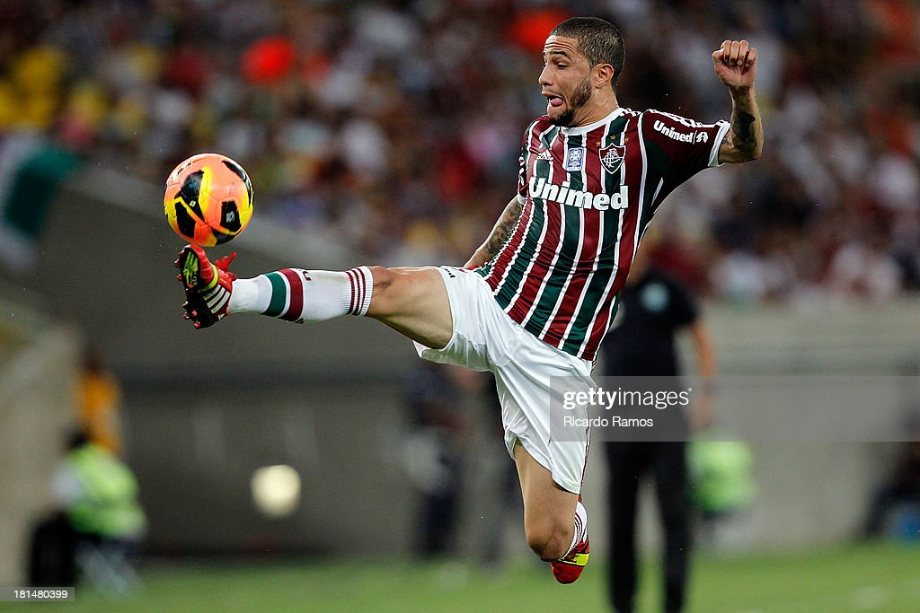 Bruno of Fluminense in action during the match between Fluminense and Coritiba for the Brazilian Series A 2013 at Maracana on September 21, 2013 in Rio de Janeiro, Brazil.
