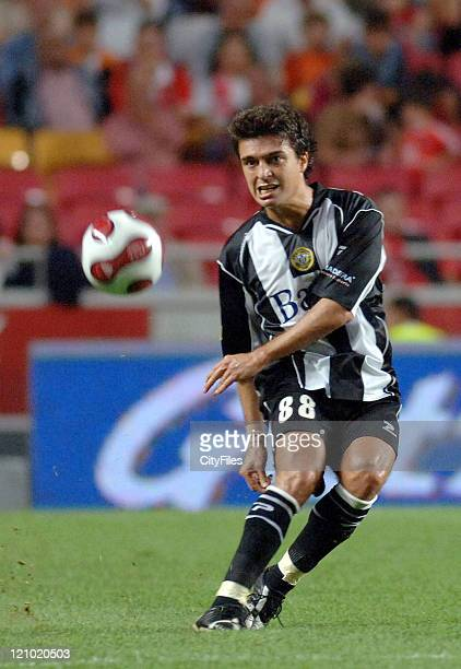 Bruno of Nacional da Madeira in action during the third round of a Portuguese League game between Nacional da Madeira and Benfica in Lisbon, Portugal...