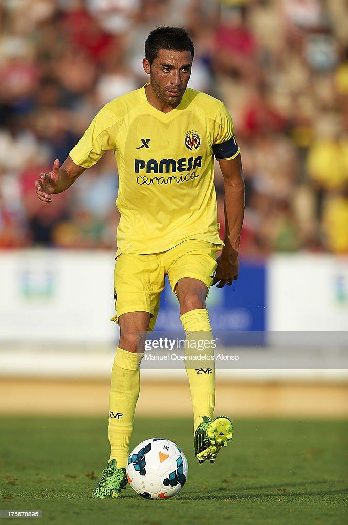Bruno of Villarreal controls the ball during a friendly match between Villarreal CF and Granada FC at La Manga Club on August 03, 2013 in La Manga, Spain.