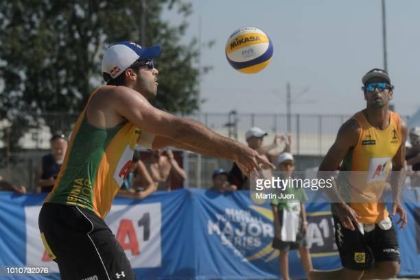 Bruno Oscar Schmidt of Brazil compets during match im the men's round of 16 between Predo Solberg Salgado of Brazil and Bruno Oscar Schmidt of Brazil...