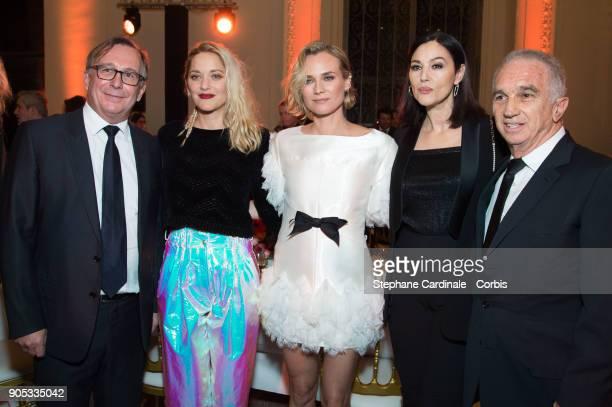 Bruno Pavlovsky Marion Cotillard Diane Kruger Monica Bellucci and Alain Terzian attend the 'Cesar Revelations 2018' Party at Le Petit Palais on...