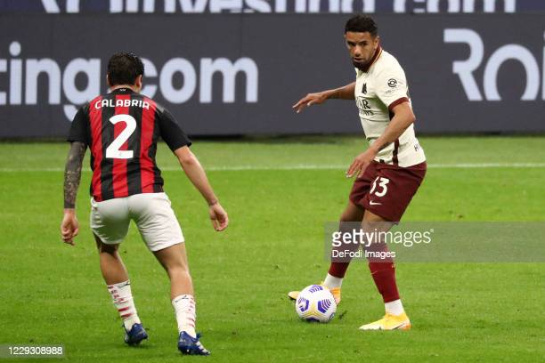 Bruno Peres of AS Roma controls the ball during the Serie A match between AC Milan and AS Roma at Stadio Giuseppe Meazza on October 26 2020 in Milan...
