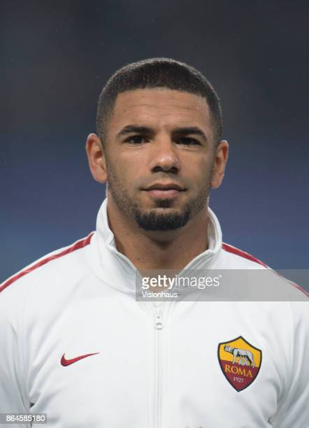 Bruno Peres of AS ROMA during the UEFA Champions League Group C match between Chelsea FC and AS Roma at Stamford Bridge on October 18 2017 in London...