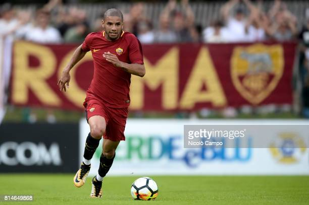 PINETA PINZOLO TRENTO ITALY Bruno Peres of AS Roma in action during the preseason friendly football match between AS Roma and FC Slovacko AS Roma...