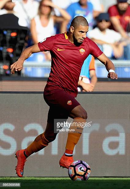 Bruno Peres of AS Roma in action during the Serie A match between AS Roma and Udinese Calcio at Olimpico Stadium on August 20 2016 in Rome Italy