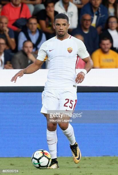 Bruno Peres of Roma during the Serie A match between Benevento Calcio and AS Roma at Stadio Ciro Vigorito on September 20 2017 in Benevento Italy