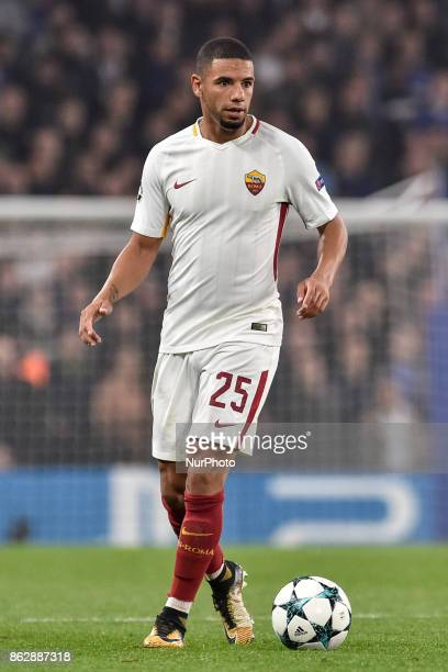 Bruno Peres of Roma during the UEFA Champions League match between Chelsea v AS Roma at Stamford Bridge Stadium London United Kingdom on 18 October...