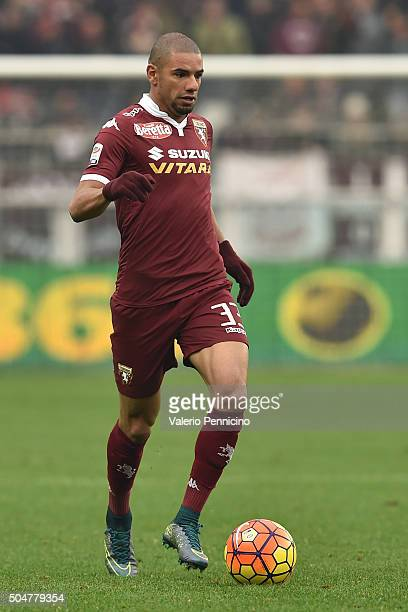 Bruno Peres of Torino FC in action during the Serie A match between Torino FC and Empoli FC at Stadio Olimpico di Torino on January 10 2016 in Turin...