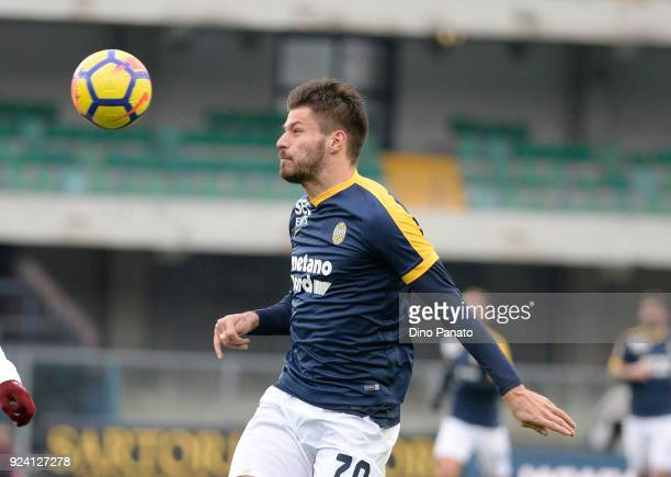Bruno Petkovic of Hellas Verona during the serie A match between Hellas Verona FC and Torino FC at Stadio Marc'Antonio Bentegodi on February 25 2018...