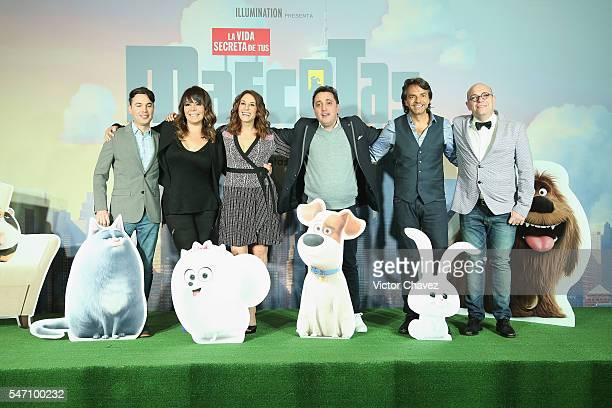 Bruno Pinasco Ana Maria Simon Monica Huarte Andres Lopez Eugenio Derbez and Martin Campilongo attend a press conference and photocall to promote the...