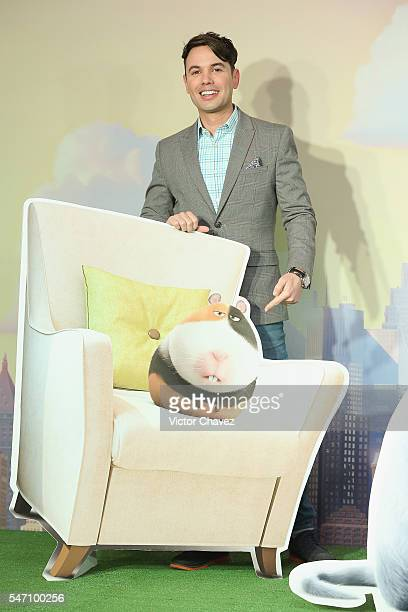 Bruno Pinasco attends a press conference and photocall to promote the new film 'The Secret Life of Pets' at St Regis Hotel on July 13 2016 in Mexico...