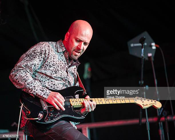 Bruno Previtali of Claudio Simonetti's Goblin performs at the Lunar Festival on June 5 2015 in TanworthinArden United Kingdom