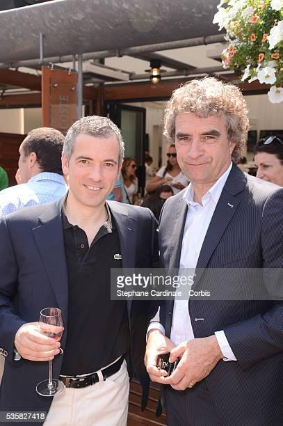 Bruno Putzulu and Dominique Rocheteau at Roland Garros Village