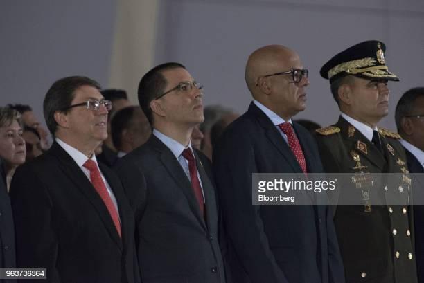 Bruno Rodriguez Parrilla Cuba's foreign affairs minister from left Jorge Arreaza Venezuela's foreign affairs minister Jorge Rodriguez Venezuela's...