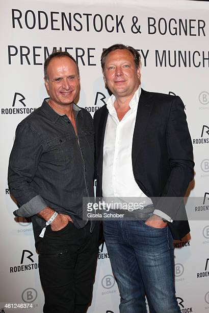 Bruno Saelzer Oliver Kastalio CEO Rodenstock during the Rodenstock Bogner premiere party at P1 on January 9 2015 in Munich Germany