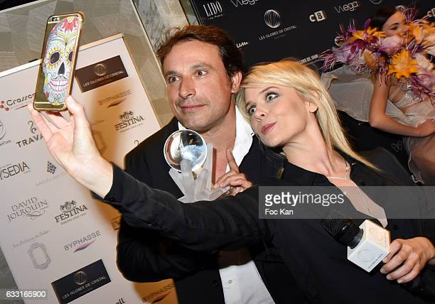 Bruno Salomone and Val Kahl attend Les Globes de Cristal Awards 11th Ceremony at Lido on January 30 2017 in Paris France