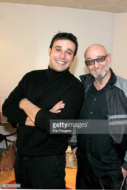 Bruno Salomone with Charlelie Couture backstage after his oneman show