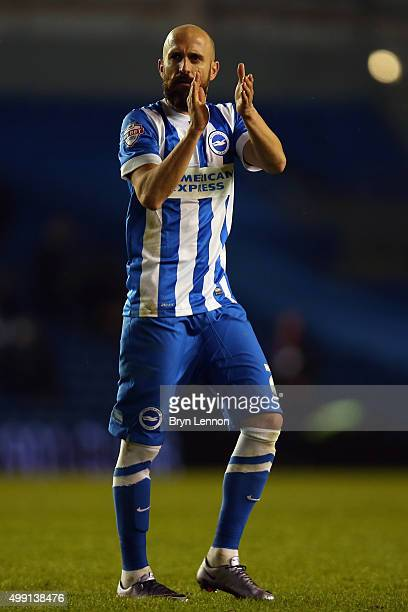 Bruno Salter of Brighton Hove Albion acknowledges the crowds after the Sky Bet Championship match between Brighton and Hove Albion and Birmingham...