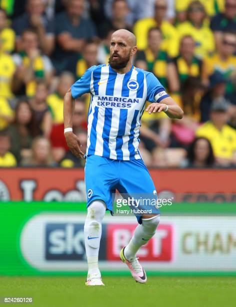 Bruno Saltor of Brighton in action during the preseason friendly match between Norwich City and Brighton Hove Albion at Carrow Road on July 29 2017...