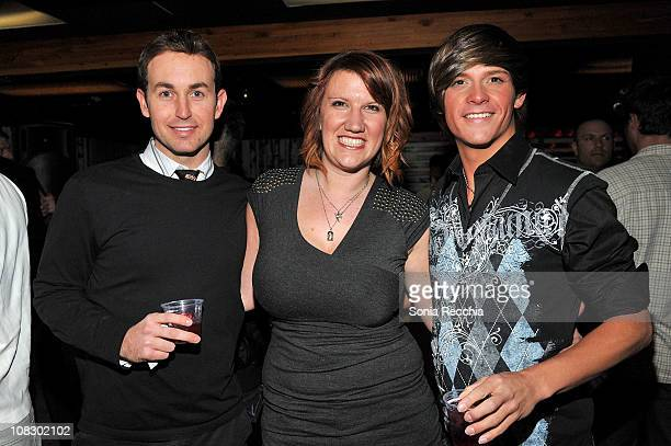 Bruno Schwartz Diane Orme and Dayne Robero attend Queer Lounge Hosts 8th Annual Homos Away From Home Party on January 24 2011 in Park City Utah