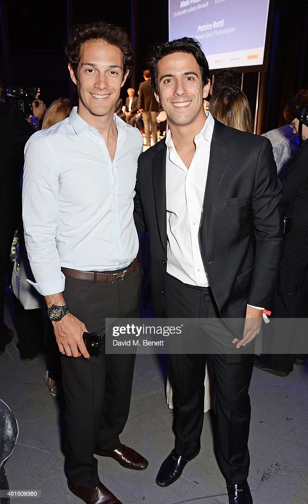 Bruno Senna (L) and Lucas di Grassi attend the global launch of the FIA Formula E Championship, celebrating the founding of the first ever all-electric race series, at The Roundhouse on June 30, 2014 in London, England.
