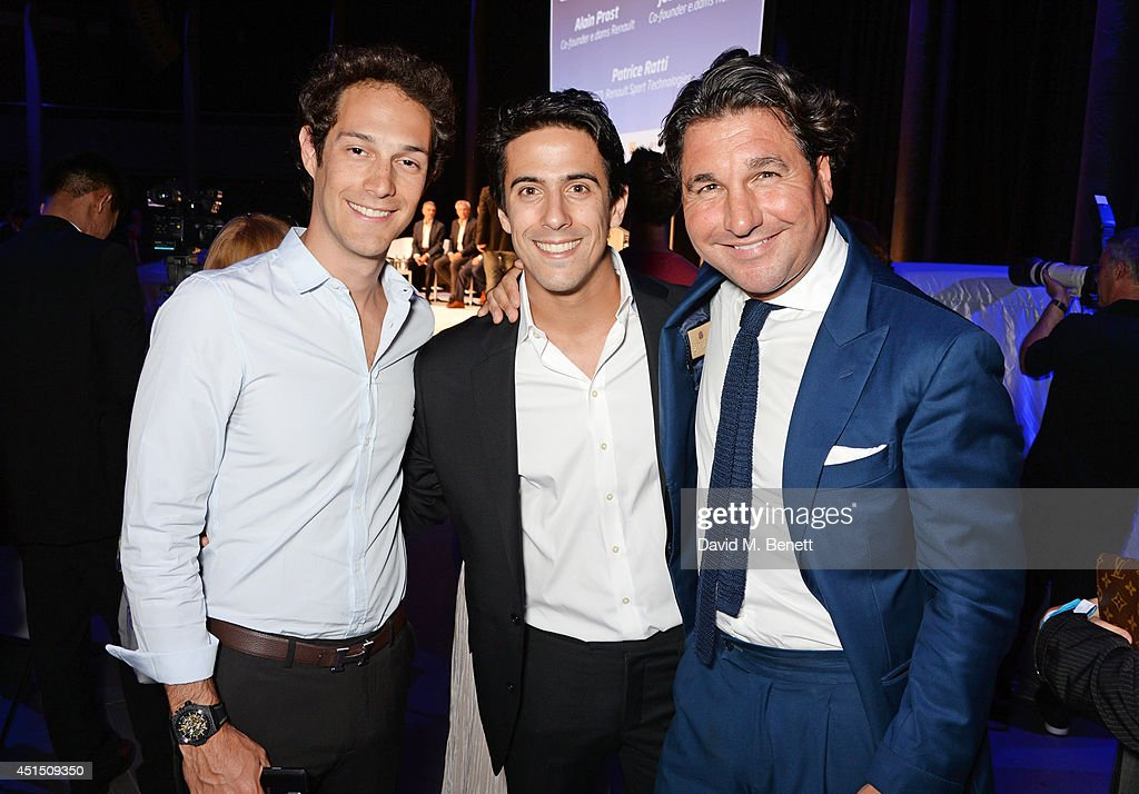 Bruno Senna, Lucas di Grassi and Giorgio Veroni attend the global launch of the FIA Formula E Championship, celebrating the founding of the first ever all-electric race series, at The Roundhouse on June 30, 2014 in London, England.