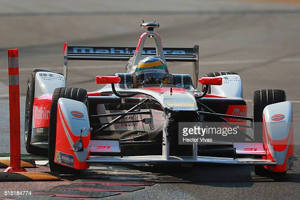 Bruno Senna of Brazil and Mahindra Racing during the Mexico City Formula E Championship 2016 at Autodromo Hermanos Rodriguez on March12, 2016 in...