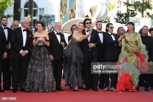 Bruno Sevilla Jonathan Pryce Joana Ribeiro director Terry Gilliam Olga Kurylenko Adam Driver Oscar Jaenada and Rossy de Palma attends the screening...