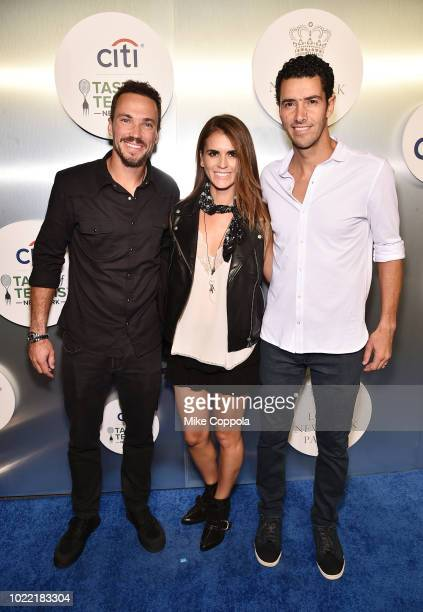 Bruno Soares and Andre Sa attend the Citi Taste Of Tennis gala on August 23 2018 in New York City