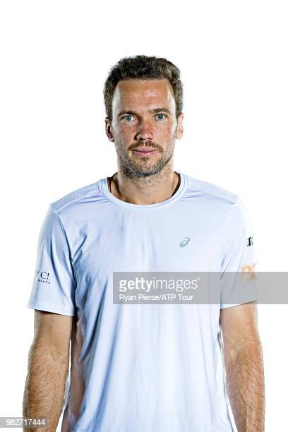 Bruno Soares of Brazil poses for portraits during the Australian Open at Melbourne Park on January 14 2018 in Melbourne Australia