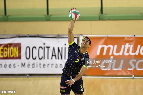 Bruno Temponi of Toulouse during the Volleyball friendly match on September 22 2017 in Montpellier France