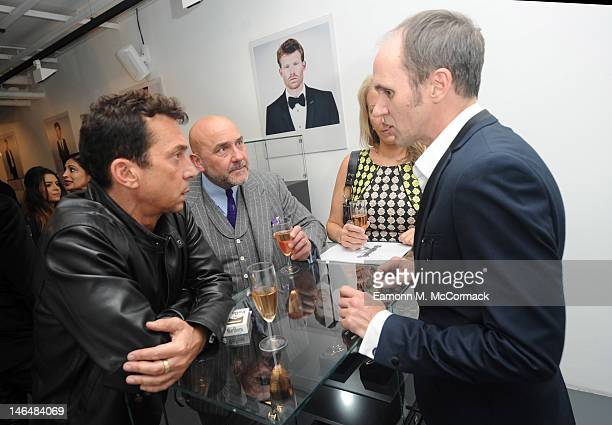 Bruno Toniloi Mark Powell and David Thomas attend a party to celebrate the new 'GENTLEMAN David Thomas X JBH' collection from David Thomas and Jason...