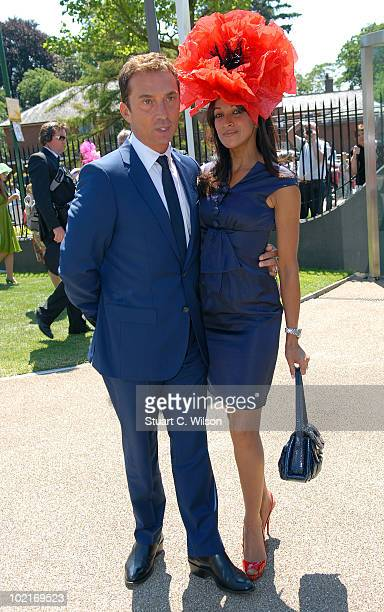 Bruno Tonioli and Jackie St Clair attend Royal Ascot Ladies Day on June 17 2010 in Ascot England
