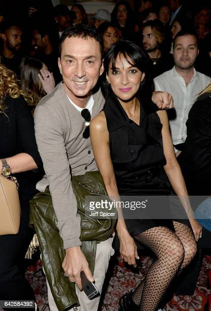 Bruno Tonioli and Jackie St Clair attend the Julien Macdonald show during the London Fashion Week February 2017 collections on February 18 2017 in...