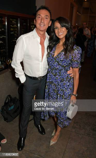 Bruno Tonioli and Jackie St Clair attend the press night after party for The Light In The Piazza at Skylon on June 18 2019 in London England