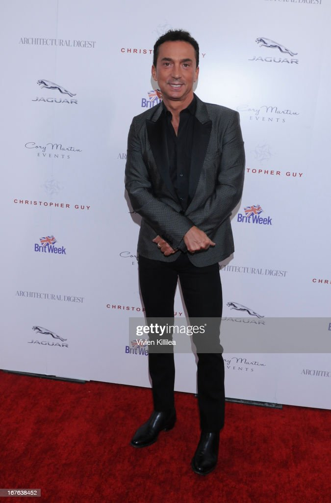 Bruno Tonioli attends British luxury furnishings designer Christopher Guy presents BritWeek design icon award to design director of Jaguar Ian Callum at Christopher Guy West Hollywood Showroom on April 26, 2013 in West Hollywood, California.