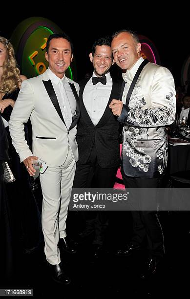 Bruno Tonioli Campbell Bromberg and Graham Norton attend the 15th Annual White Tie and Tiara Ball to Benefit Elton John AIDS Foundation in...