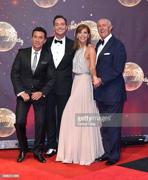 Bruno Tonioli Craig Revel Horwood Darcey Bussell and Len Goodman arrive for the Red Carpet Launch of 'Strictly Come Dancing 2016' at Elstree Studios...