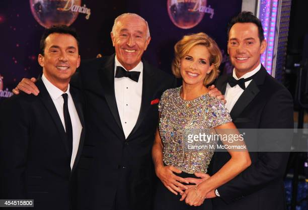 Bruno Tonioli Len Goodman Darcey Bussell and Craig Revel Horwood attend the red carpet launch for 'Strictly Come Dancing' 2014 at Elstree Studios on...