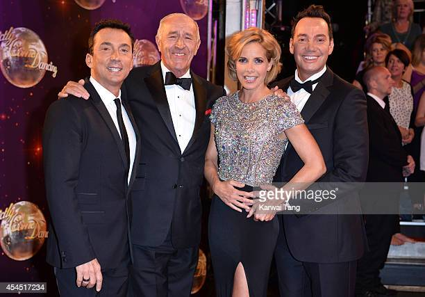 Bruno Tonioli Len Goodman Darcey Bussell and Craig Revel Horwood attend the red carpet launch for Strictly Come Dancing 2014 at Elstree Studios on...